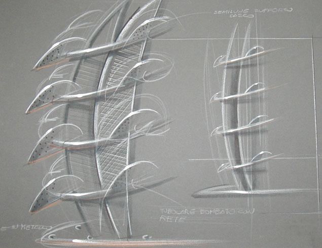 Progettazione espositore di design