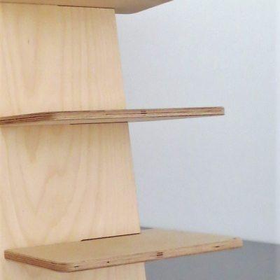 Espositore per scarpe in legno