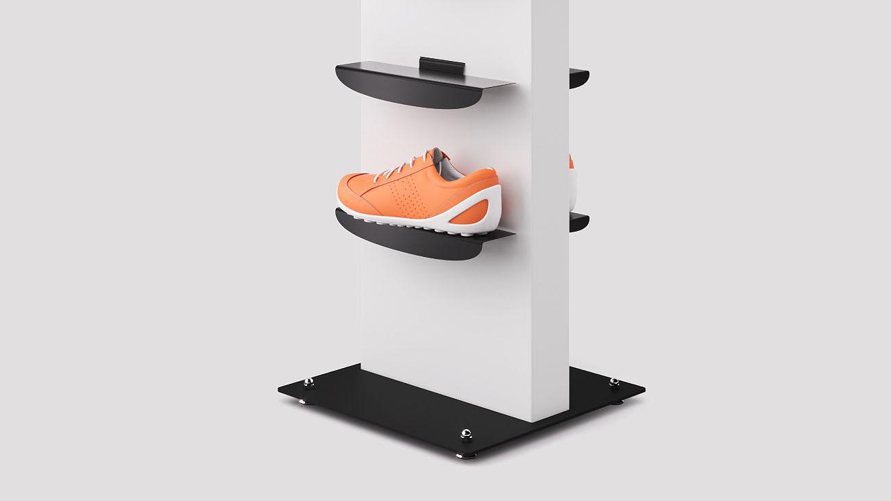 Espositore scarpe sportive