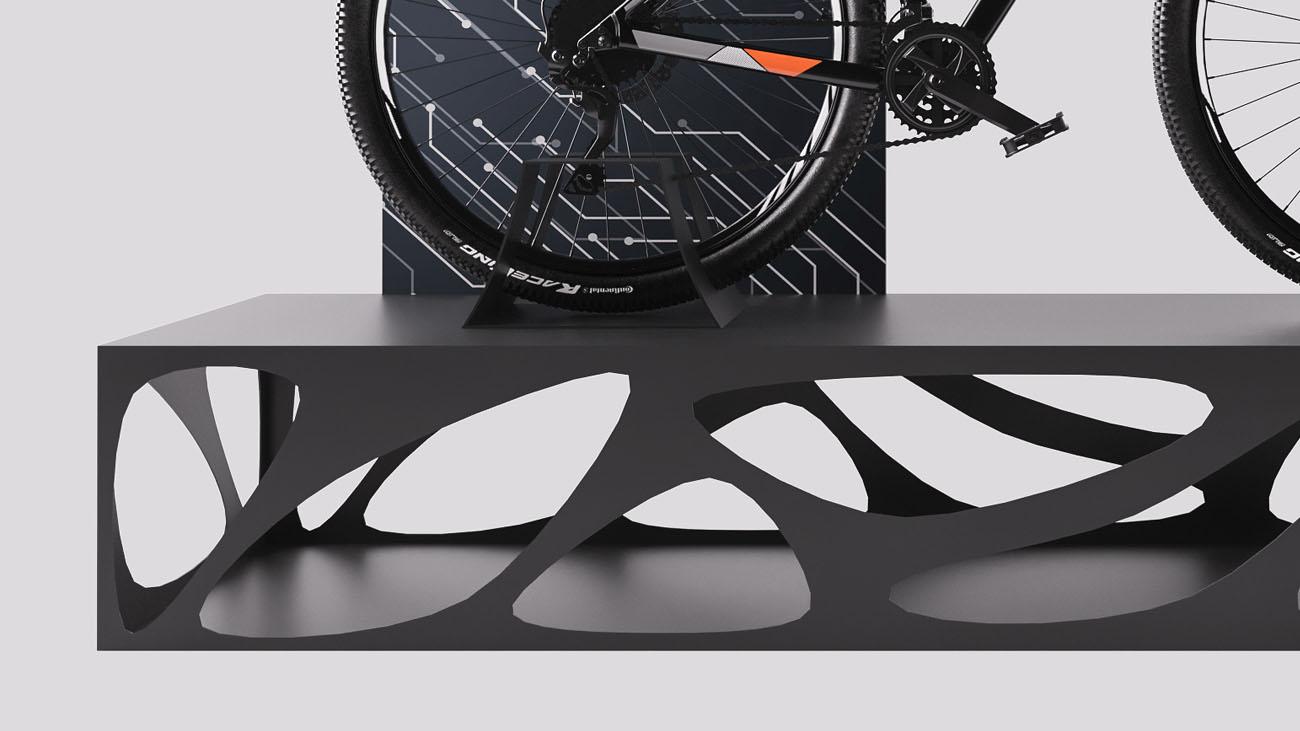 Pedana per bicicletta sportiva